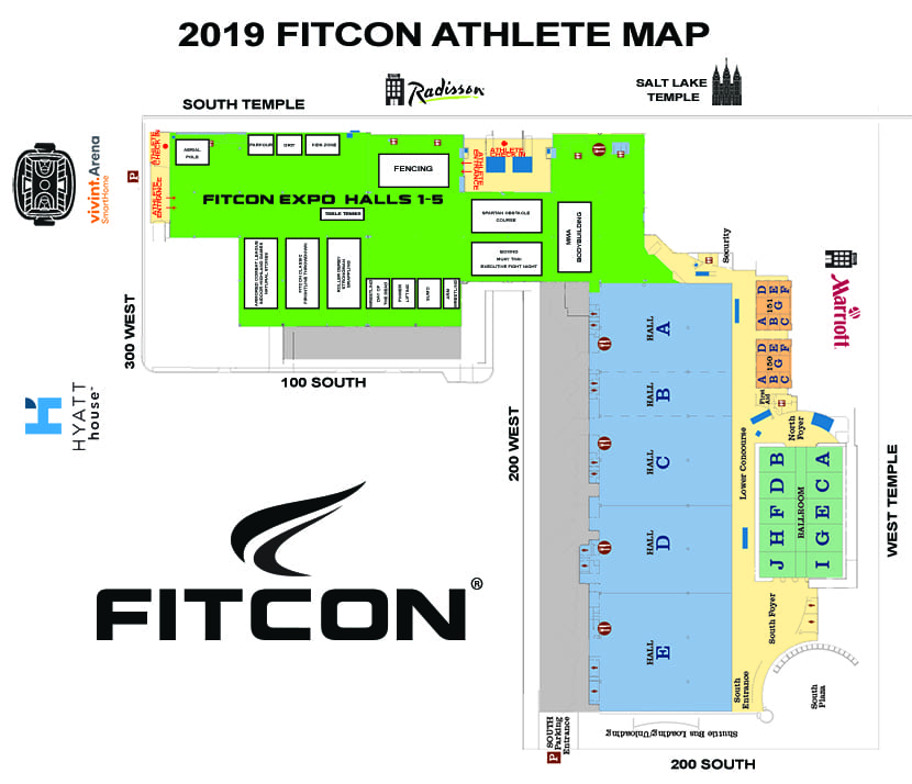 Athlete Resources - FitCon on los angeles memorial sports arena map, salt desert map, city creek center map, salt art map, utah state capitol map, salt lake map, freedom hall map, energysolutions arena map, anaheim convention center map, mccormick place map, valley view casino center map, caesars palace conference center map, salt sea map, cow palace map, trolley square map, salt city map, salt island map, caesars palace convention center map, austin convention center map, javits center map,